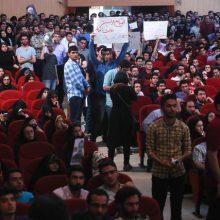 میرسلیم در دانشگاه امیرکبیر :آمفیتئاتر پلیتکنیک با صحبت میرسلیم آهنگ یکنواختی به خود گرفته بود توسط دانشجویان از دو طیف با شعارهاوضدشعارهایهماهنگ قطع شد