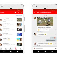 گوگل طراحی جدیدی را برای اپلیکیشن موبایل یوتیوب عرضه کرد، این بروزرسانی قابلیت پیام رسانی و چت را بین کاربران اضافه کرده است.