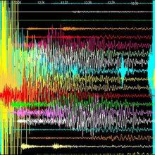 """زلزله 4.3 ریشتری """"ایج"""" فارس را لرزاند . شبکههای لرزهنگاری مرکز لرزهنگاری کشوری موسسه ژئوفیزیک دانشگاه تهران در ساعت 9:30:34 ثانیه روز سهشنبه، 28 آذر"""