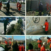 پاکسازی محلات منطقه یک از پل بوسار و خیابان نواب تا فخب