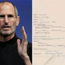 نامه درخواست کار که سال ۱۹۷۳ استیو جابز، بنیانگذار شرکت اپل آن را پر کرده بود، به حراج گذاشته میشود. نامه درخواست کار استیو جابز