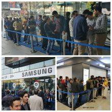 صف خریداران گوشی سامسونگ گلکسی S9 و S9+ در مجتمع چارسو - تهران