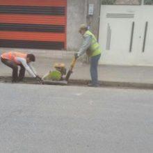 گزارش تصویری مرمت آسفالت نوار حفاری در محله سیاه اسطلخ