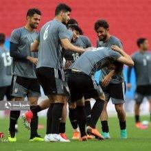 آخرین تمرین ملی پوشان فوتبال ایران پیش از دیدار با اسپانیا