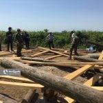 رفع تصرف اراضی منابع طبیعی با هوشیاری دهیار و عضو شورا و اهالی یک روستا + فیلم
