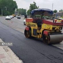 آسفالت مسیر پروژه ساماندهی جاده پیربازار
