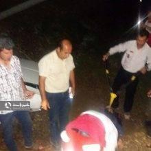 سقوط پیکان به دره در جاده پونل- خلخال