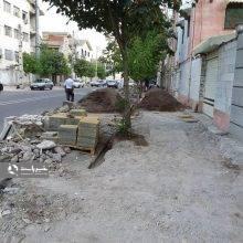 پروژه پیادهروسازی استقامت خیابان شهید بلال زاده