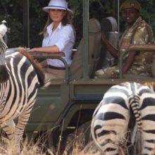 جنجال کلاهی که بر سر همسر ترامپ در کنیا بود! +عکس