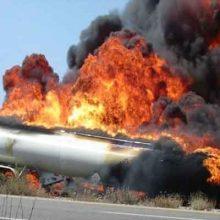 انفجار تانکر سوخترسان طی تیراندازی در خرمآباد| شهادت یک سرباز