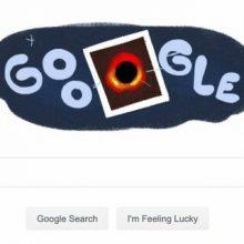 تغییر لوگوی گوگل به اولین تصویر ثبت شده از یک سیاهچاله+عکس