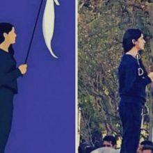 محکومیت دختر خیابان انقلاب به یک سال حبس
