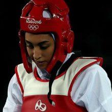 کیمیا علیزاده با پرچم آلمان در المپیک بازی میکند